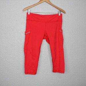 Lululemon Athletica Reddish Orange Capris sz 8